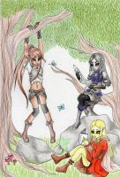 Sitting In The Woods by Lala-lolita