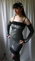 silver skeleton dress by smarmy-clothes