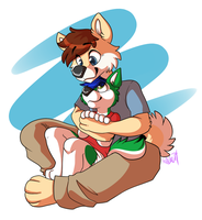 Cuddle Time! by Scamp-Breezy