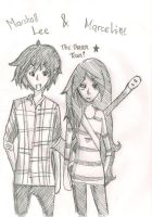 Marshall Lee and Marceline- The Dream Team by maiki24