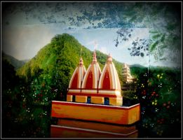 temple in the jungle by santosam81