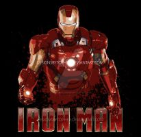 Iron Man Splatter by DesignsByTopher