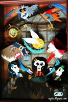 Harry Potter Paper Craft Shadowbox by SugiAi