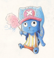 Fairy Tail X One Piece Crossover: Happy-Chopper by Silvy-Silvy