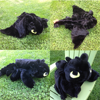 Gigantic Fur Toothless Plush by Glacdeas