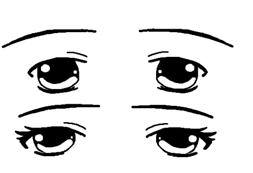 Anime Eyes (Drawn on a computer :O) by HaloCowsMoo