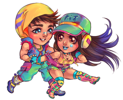 Chibi: Rolf and Kit by saniika