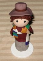 Lil' Fourth Doctor Chibi Statue by Erajia