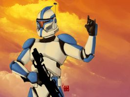 Rock on, Captain Rex by ladyfish
