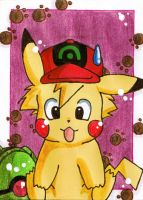 KAKAO CARD Ash as Pika by LuckyAngelausMexx