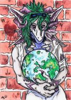 Queen of the world ACEO Trade~ by AstaraBriarart