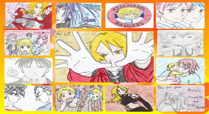 My Anime Drawings Collage by KrazyKat22