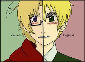 Canada and England split frame by RavenDunbar