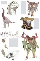 Dinosaur sketchbook preview by TGping