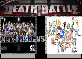 Deathbattle131: Cartoon Network vs Nickelodeon by Mr-Wolfman-Thomas