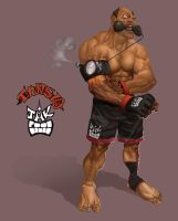ufc maniac character design by salahh