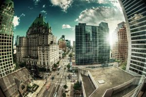 Downtown Vancouver by Riddlez46