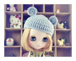 Blythe with hat by hell0z0mbie