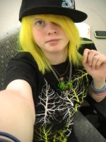 Yellow and Green Hair I by RedHeadedBitch