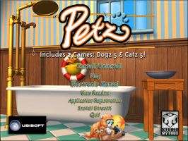 Petz startup screen by Petz-Central