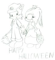HappyHalloween Tails and Cream by dan-sama