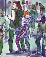 Ginger and Scarlett: Mall Zombies by Caraphae