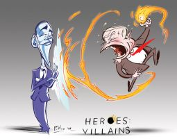 Heroes: Villains by Phostex