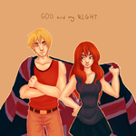 Hetalia: England and fem!Scotland | Being United by Lazorite