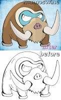 Mamoswine (Before and After) by RCKNP