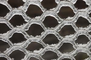 Ice covered fence by crimsonpenguin
