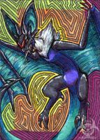 Noivern ATC/ACEO by Mottenfest
