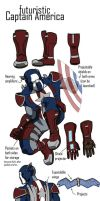 Futuristic Captain America by InfamouslyDorky
