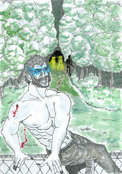 Inktober 8 Teen Wolf (Hunted) by player78844