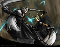 Cloud VS Sephiroth Final by gts