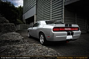 silver dodge challenger by AmericanMuscle
