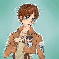 Eren and Neko Chibi Levi by AdversusZero