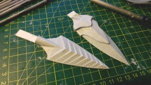 Skyrim: Bloodcursed and Sunhallowed Arrowheads WIP by TheAnti-Lily