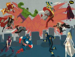 Avengers vs X-Men by Fuacka