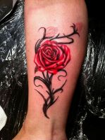 rose tattoo by CalebSlabzzzGraham