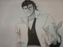 Bleach Aizen by Porkchopexpress500