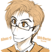 The 10th Doctor by DawnValentine101