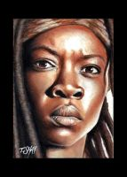 The Walking Dead Michonne by Dr-Horrible