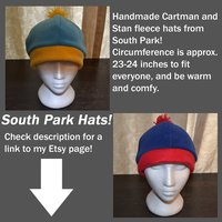 Cartman and Stan Fleece Hats! - Sale by Coppertooth