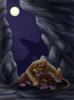 Scar and Zira by J-C