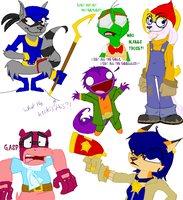 Just Some Sly Cooper Doodles by lacheetara
