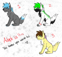 Wolf adopties 55.:OPEN:. by SparkleDesuShelter