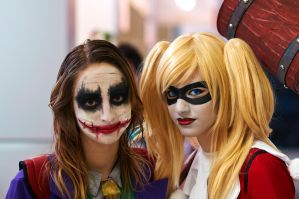 Harley Quinn and Joker by LaraValentine