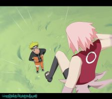 Naruto and Sakura - Sparring by Lunamescent