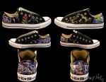 Beauty and the Beast Stained Glass Converse by caseycreates