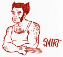 'Come to bed' eyes Wolverine by TeamSmithy